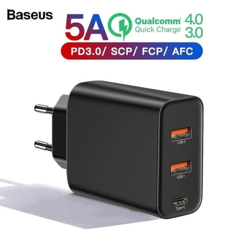 BASEUS 60W Charger Quick Charge QC 3.0 Power Delivery PD 3.0 5A CCFSG
