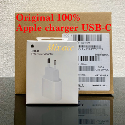 CHARGER IPHONE 11 X XR XS POWER ADAPTER ORIGINAL USB-C 18W PD QUICK