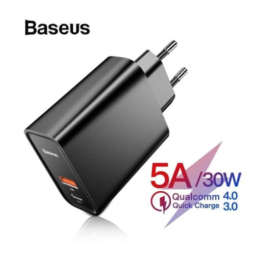 BASEUS 30W Charger Quick Charge QC 3.0 Power Delivery PD 3.0 5A CCFSC