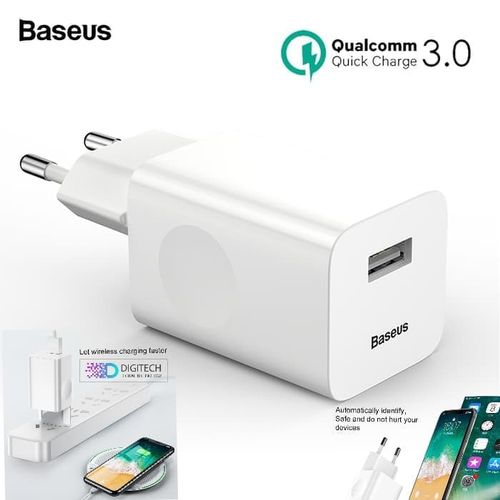Charger Baseus QUICK CHARGER QC 3.0 Fast Charging 24W ORIGINAL
