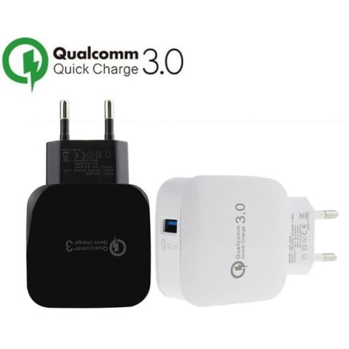 Qualcomm Quick Charge 3.0 Adaptor Fast Charging Charger Hp QC3.0 QC370 - Hitam