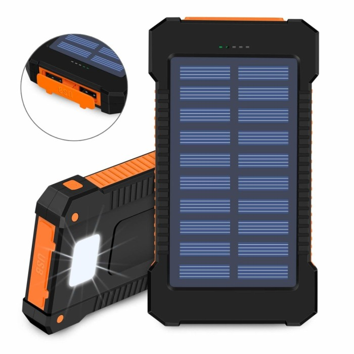 IMPORT real Solar Power Bank 30000mAh For Xiaom Waterproof Portable