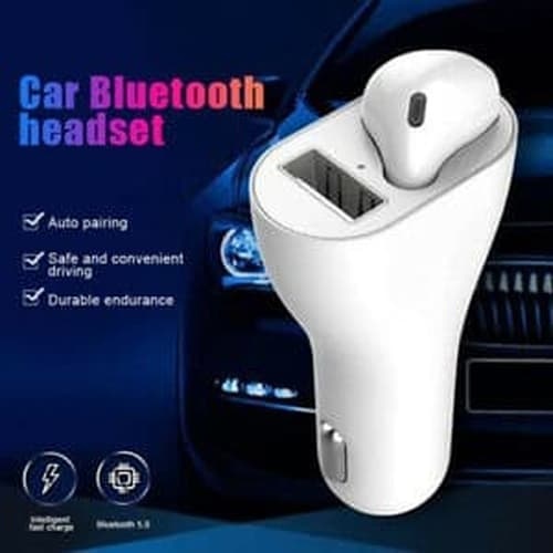 Car Charger headset bluetooth 2 in 1 in-Vehicle Wireless